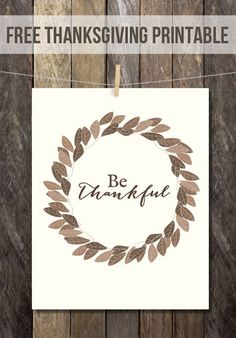 I love printables around my home, especially over the Holidays, they are a perfect reminder to be grateful!