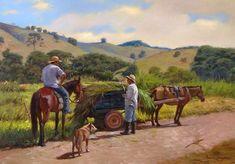 Pintura paisagem rural