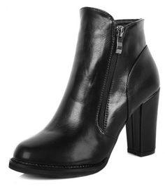 #Black #ChunkyHeel #Zip #Korean #AnkleBoots £34.99 @ ShanghaiTrends.co.uk  /  http://shanghaitrends.co.uk/black-chunky-heel-zip-korean-ankle-boots