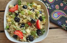 Quinoa Fruit Salad  with Coconut Lime Balsamic Dressing