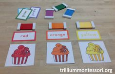 December Color Sorting with Color tablets