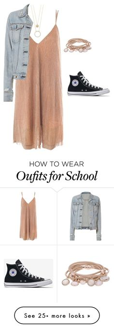 """be cute in school today"" by leila-433 on Polyvore featuring Sans Souci, rag & bone, Kate Spade and Marjana von Berlepsch"