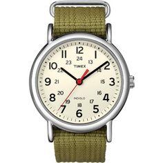 Timex Weekender Watch, Olive Nylon Strap