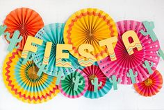 Fiesta Party Fans Fiesta Party Decor Fiesta