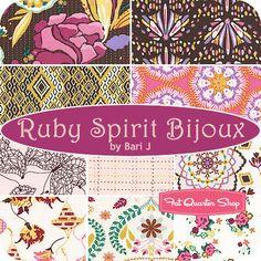 Ruby Spirit Bijoux Fat Quarter Bundle Bari J. for Art Gallery Fabrics - Fat Quarter Shop