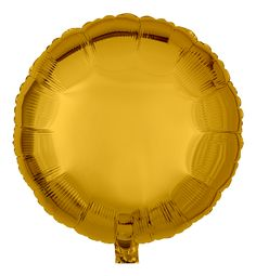 Goldener Folienballon rund mit Metallic-Schimmer | Ballongruesse.de