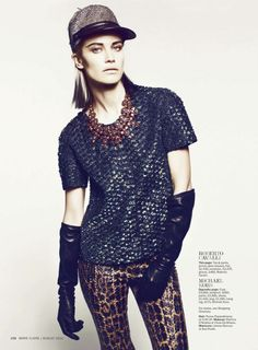 a serious woman: delfine bafort by danilo giuliani for us marie claire august 2012