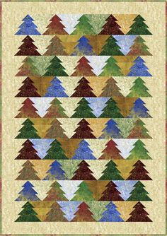 Oh Christmas Tree! Quilt Pattern PC-119 (beginner, jelly roll, wall, lap, queen) PC-119e (electronic download)