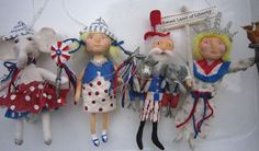 Sweet Liberty   A spun cotton ornament by by MariePattersonStudio