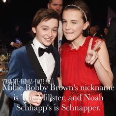 Noah schnapp millie Bobby Brown stranger Things facts