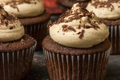 Chocolate Cupcakes & Peanut Butter Frosting...I don't like frosting and I loved this!