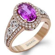 Rose gold is the new white with this stunning Kunzite and diamond ring!