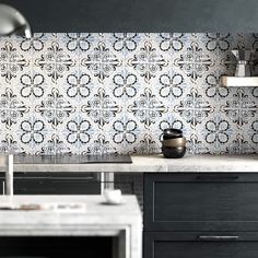 The Antique Tile Collection features over 35 carefully created motifs. Some are reproduced from traditional Portuguese and Spanish patterns. Others are fun contemporary designs. Ceramic Tile Crafts, Ceramic Tile Backsplash, Painting Ceramic Tiles, Spanish Tile Kitchen, Kitchen Tiles, Kitchen Redo, Kitchen Remodel, Kitchen Design, Contemporary Tile