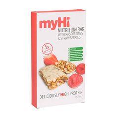 myHi Nutrition Cereal Bar Raspberry & Strawberry
