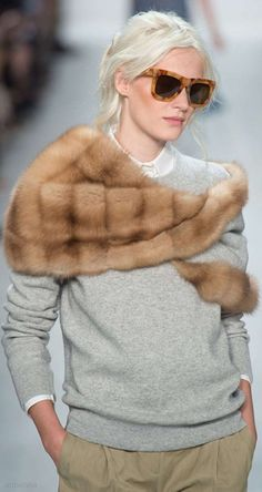 minus the fur - some kind of wrap instead