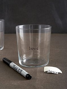 Easy-to-Do Glassware Engraving  Put a personal touch on your glasses with easy-to-do engraving.