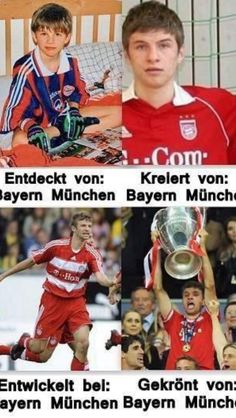 Once Bavarian, always Bavarian. Thomas Müller, the biggest Bayern München fan. I can not imagine the day he left Die Roten