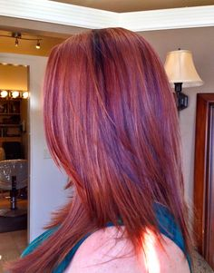 auburn with purple lowlights hair ideas - Google Search