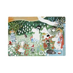 Protect and decorate your table with a flexible plastic placemat featuring your favorite Moomin Characters. Easy to wipe clean and is great for everyday use. Size: 30 x 40 cm