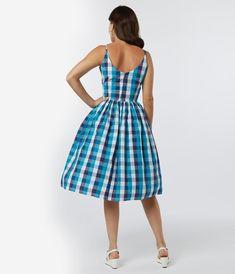 Vintage Dresses - Retro & Vintage-Inspired Dresses – Unique Vintage Vintage Inspired Dresses, Vintage Dresses, Swing Skirt, 1940s Fashion, Unique Dresses, Retro Dress, Plaid Pattern, Unique Vintage, Retro Vintage