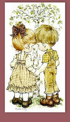 Sarah Kay and friends Sarah Key, Holly Hobbie, Cute Images, Cute Pictures, Colouring Pages, Coloring Books, Free Coloring, Mary May, Creation Photo