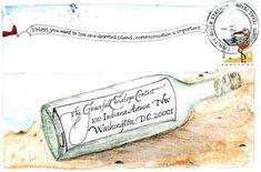 art for cArrie Envelope Lettering, Calligraphy Envelope, Envelope Art, Envelope Design, Pen Pal Letters, Letter Art, Letter Writing, Blog Art, Mail Art Envelopes