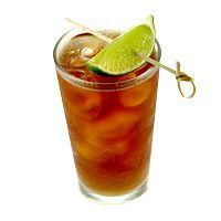 captain & diet. . . my favorite.  don't forget the twist of lime!