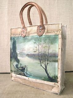 on Handpainted Bags Painted Canvas Bags, Diy Tote Bag, Best Gifts For Her, Art Bag, Beautiful Bags, Beautiful Handbags, Fabric Bags, Shopper, Tote Handbags