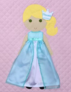 Ice Princess Dress for Paper Doll Blanket