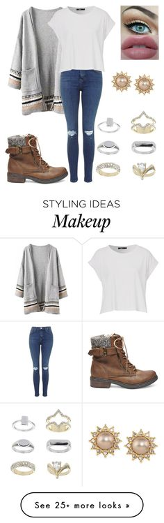 """""""#46"""" by louiseeleanorbee on Polyvore featuring Steve Madden, Topshop and Carolee"""