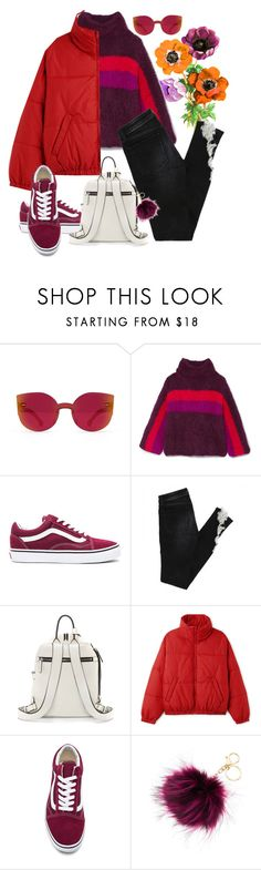 """""""Plum mix"""" by jessicajasr on Polyvore featuring RetroSuperFuture, Rosie Assoulin, Vans, Vince Camuto and Mudd"""