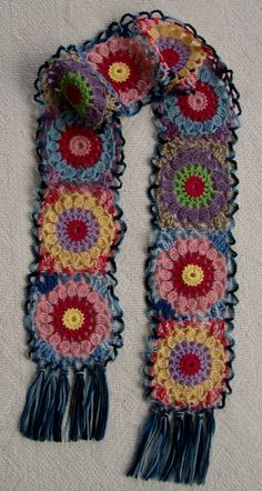 Big Crochet Flower Scarf ~ Inspiration