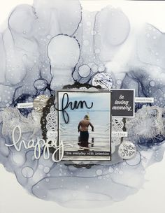 Let's get this party started 😂 Our first DT layout using our August mood board challenge from 🖤🖤🖤 stunning mixed media… July Holidays, Summer Memories, Summer Fun, Mixed Media, Challenges, Boys, Party, Scrapbooking, Layout