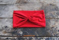 Turban Headband Women's Red Jersey Knit by aperfectmessvintage