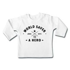 Hero - World Saver - Weltretter - Graphic Design - Retro - Label - Baby