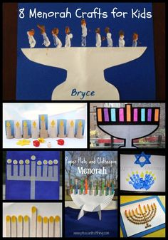 Chanukah / Hanukkah Crafts: Menorah Crafts for Kids