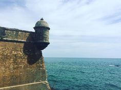 A simple photo that packs a lot of emotion especially I believe for all my Puerto Rican friends because this is not a tower at El Morro but on the opposite side of the Atlantic at #Cadiz #spain. Although Castillo de San Sebastian was not built until the 16th century the point of land it's on would have been the last seen by 6000 years of adventures/warriors - misfits dreamers rapist religious merchants idealists and would be kings - from the founding Phoenicians through Greeks Romans…