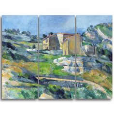 Design Art 'Paul Cezanne - Houses in Provence' Art Print