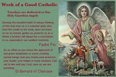 Week of a Good Catholic: Tuesdays are dedicated to the Holy Guardian Angels