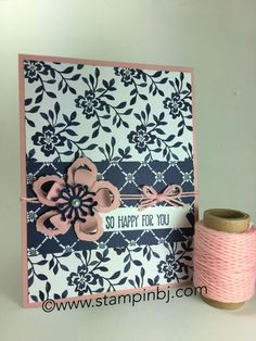 No regrets in getting this Floral Boutique designer series paper - especially while it is on sale.  You are guaranteed to regret NOT getting it!   #stampinbj.com