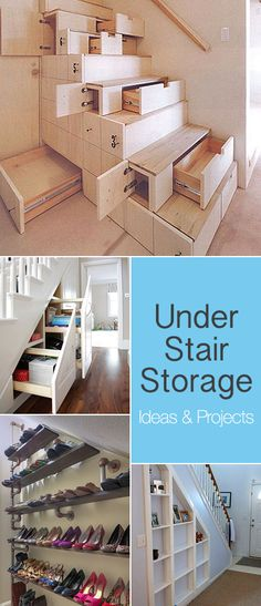 Tiny House Under Stair Storage Ideas Diy Home, Home Decor, Stair Storage, Tiny Spaces, Konmari, Under Stairs, Little Houses, Home Organization, My Dream Home