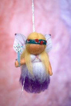 Christmas fairy - waldorf inspired, needle felted, by Naturechild