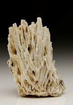 Characteristic jack straw crystal specimen of white Cerussite from the Tynagh Mine, Ireland, probably from the late 1970s R. W. Barstow find.