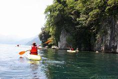 Kayaking in Bellagio (Lake Como) with Bellagio Water Sports.