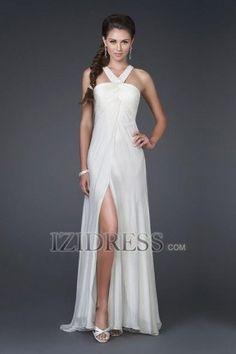 A-Line Sheath/Column V-neck Chiffon Prom Dress - IZIDRESS.com at IZIDRESS.com