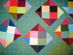 pieceful life: show off friday~~~disappearing 16 patch process Quilting Tips, Quilting Tutorials, Quilting Projects, Quilting Designs, Sewing Projects, Quilt Block Patterns, Pattern Blocks, Quilt Blocks, Disappearing Four Patch