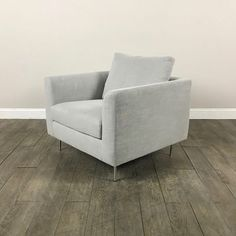Clean Lined Modern Armchair on Chairish.com