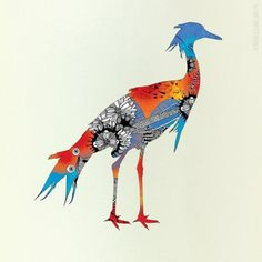 Blue Bird  Giclee Print 10x10 by onesweetorange on Etsy