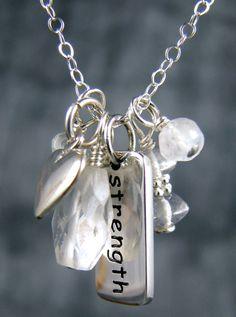 Yoga jewelry strength sterling silver charm by YogaJewelryShop, $36.00