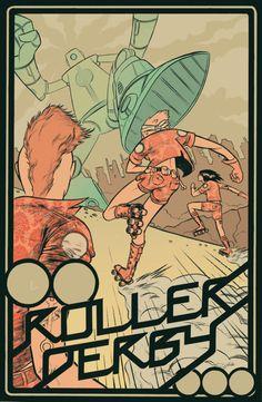 Roller derby robot -awweeesooomee